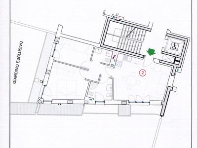 Appartamento Via Albere Verona Orti Scaligere Planimetria